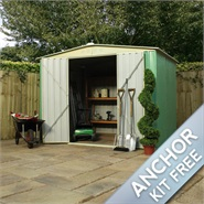 8 x 6 Waltons Apex Metal Shed